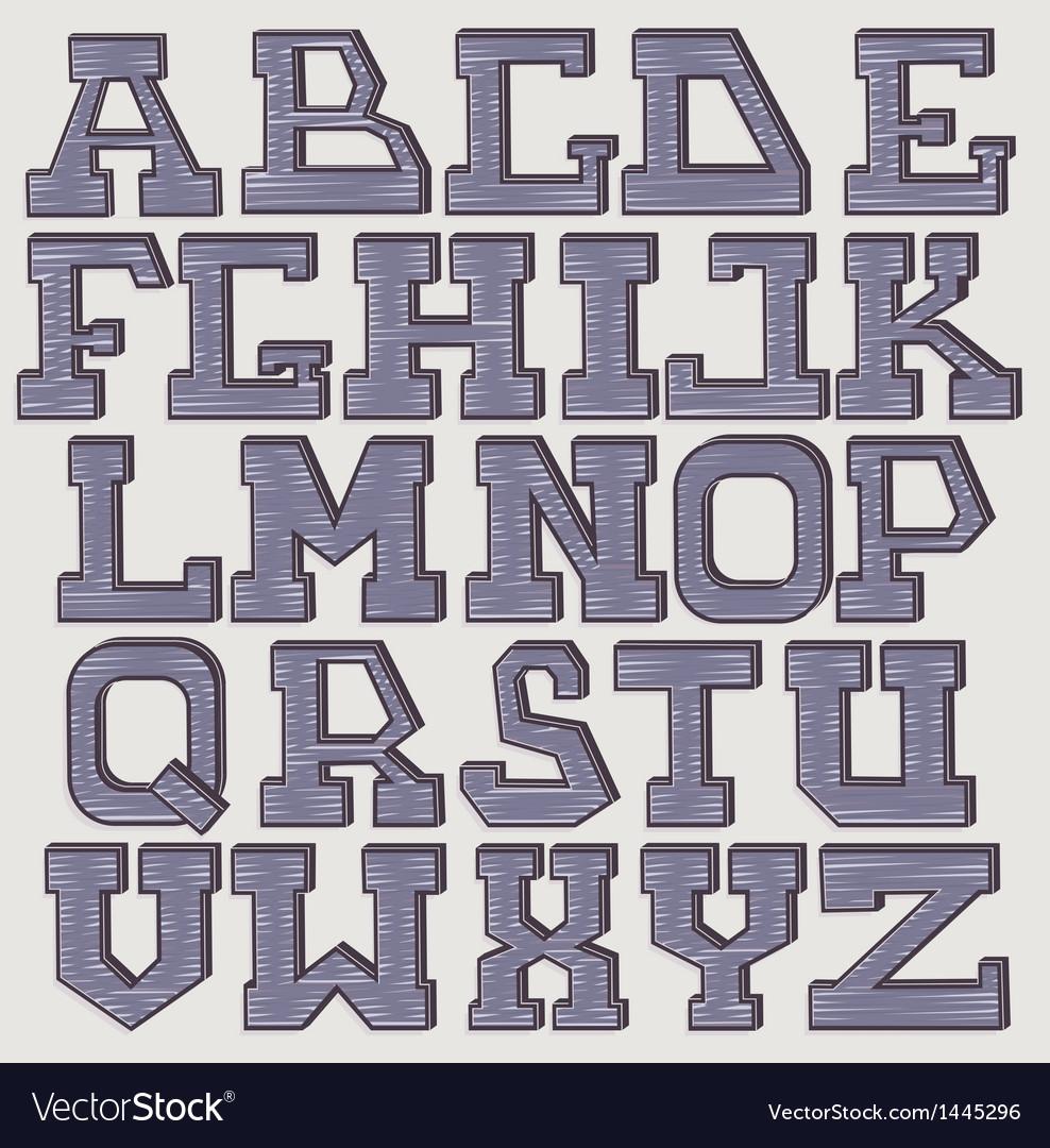 Font 3d scribble vector | Price: 1 Credit (USD $1)
