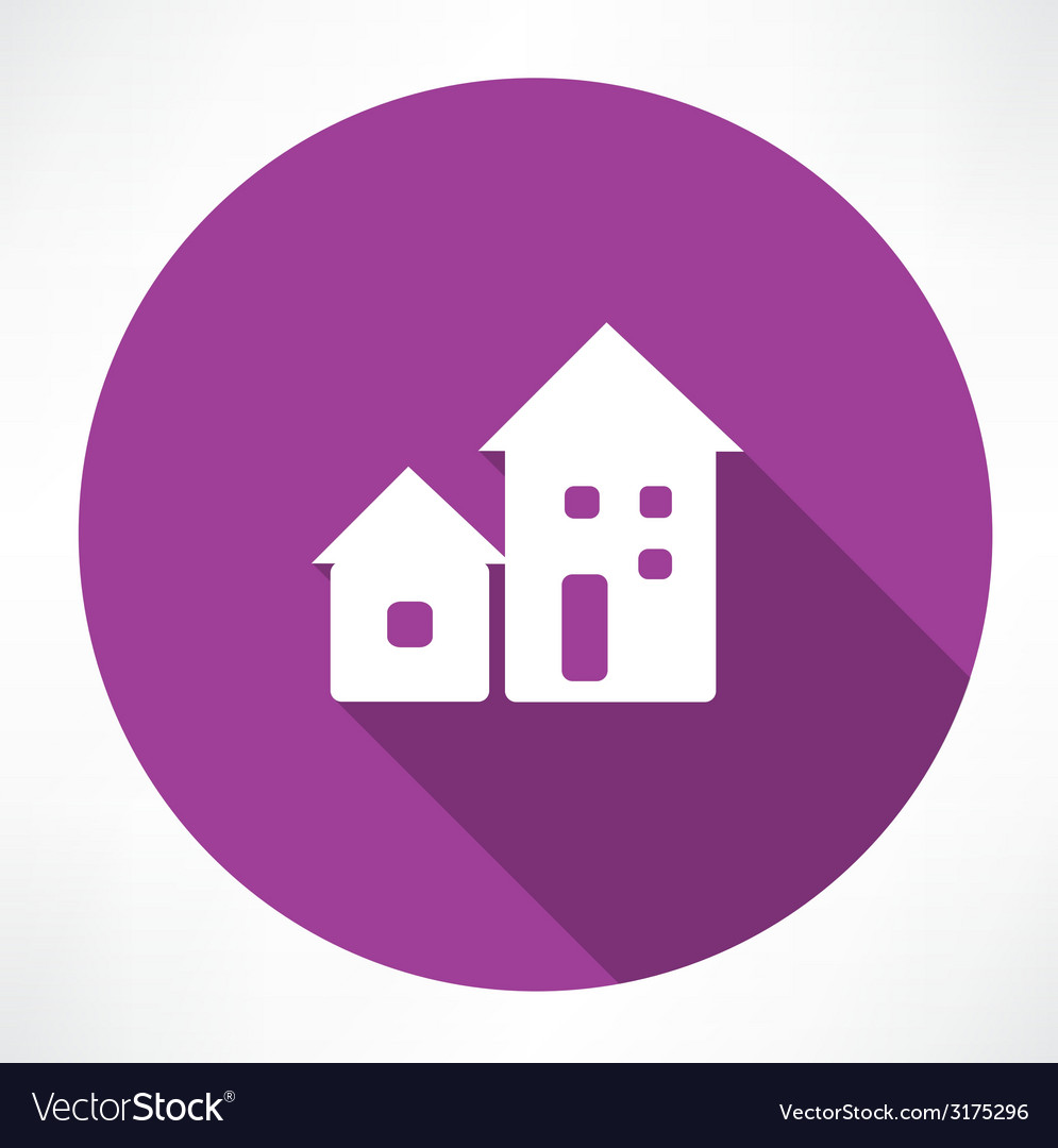 Houses icon vector | Price: 1 Credit (USD $1)