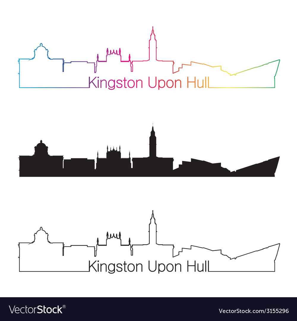 Kingston upon hull skyline linear style with vector | Price: 1 Credit (USD $1)