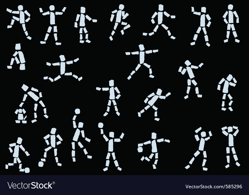 Paper people vector | Price: 1 Credit (USD $1)