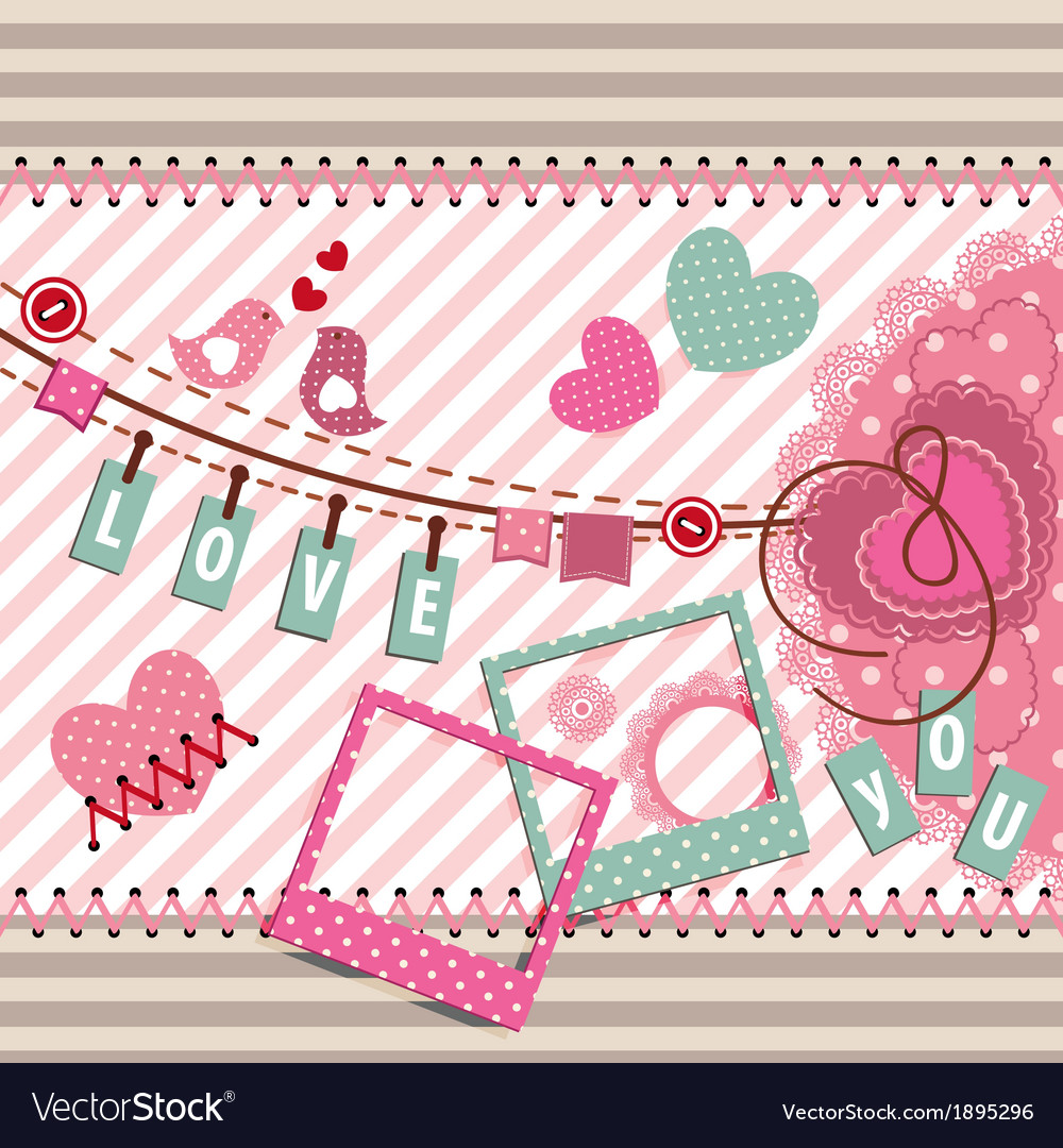 Postcard about love vector | Price: 1 Credit (USD $1)
