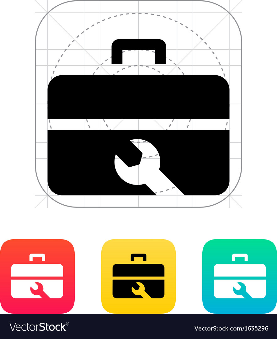 Repair toolbox icon vector | Price: 1 Credit (USD $1)