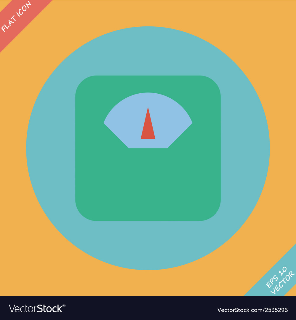 Scale icon -  flat design vector | Price: 1 Credit (USD $1)