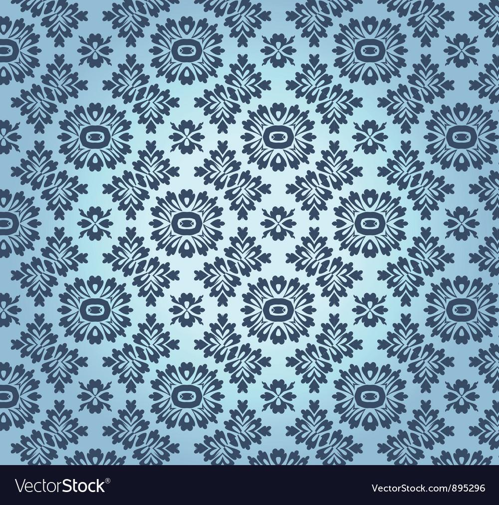 Vintage floral baroque pattern vector   Price: 1 Credit (USD $1)