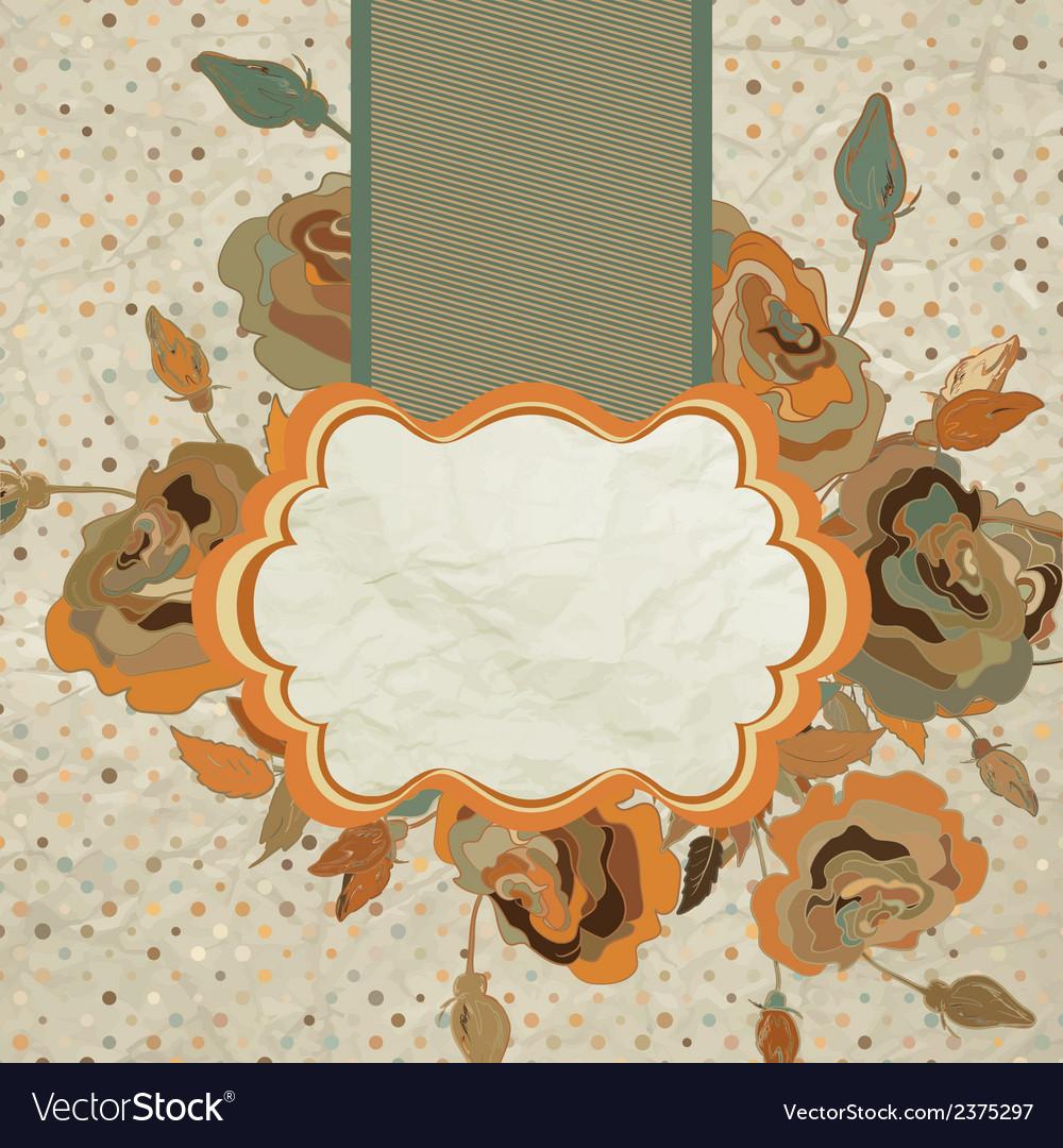 Art floral vintage colorful background eps 8 vector | Price: 1 Credit (USD $1)