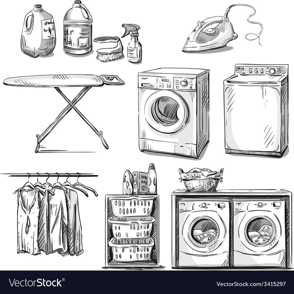 Big wash vector | Price: 3 Credit (USD $3)