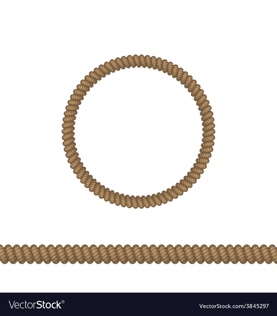 Circle and line rope elements isolated on white vector | Price: 1 Credit (USD $1)