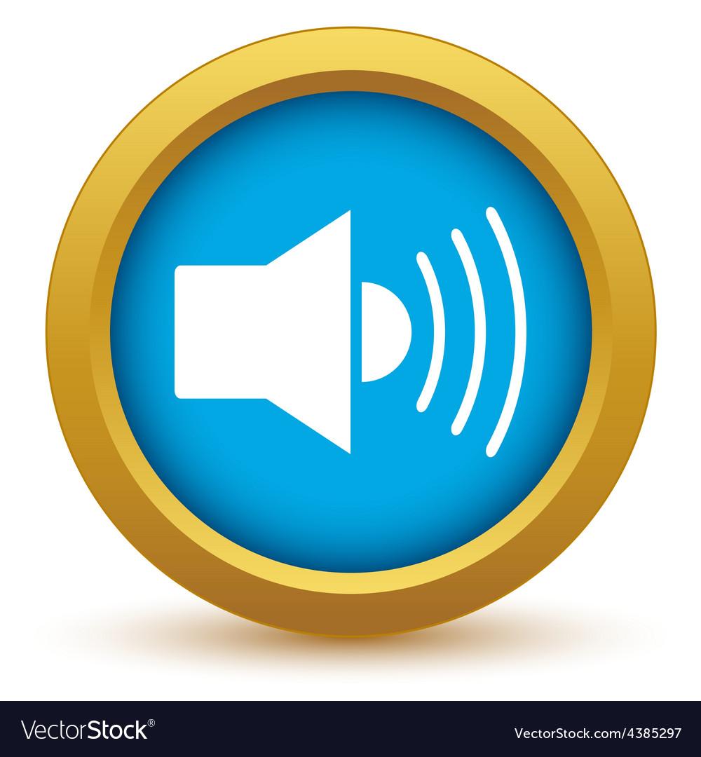 Gold add sound icon vector | Price: 1 Credit (USD $1)