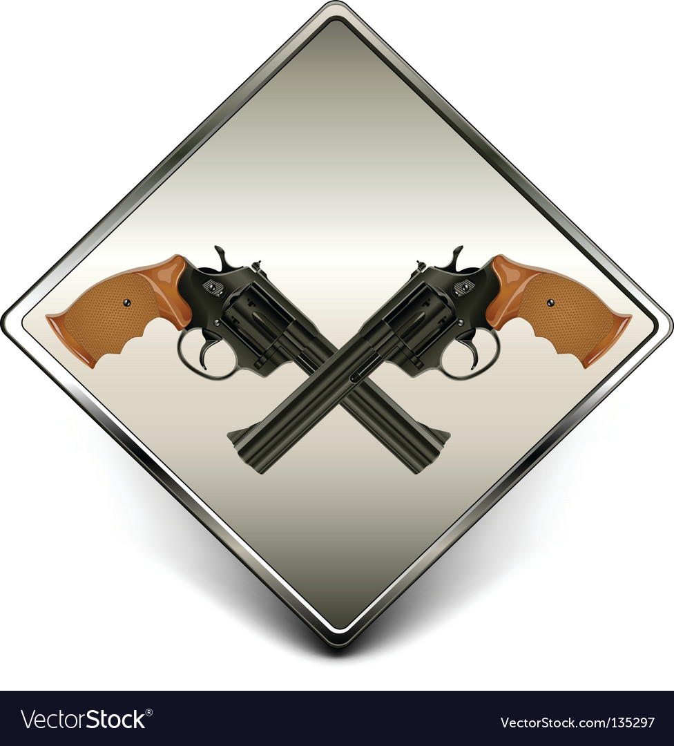 Guns sign vector | Price: 1 Credit (USD $1)