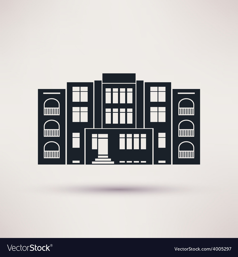 Kindergarten icon in the flat style vector | Price: 1 Credit (USD $1)