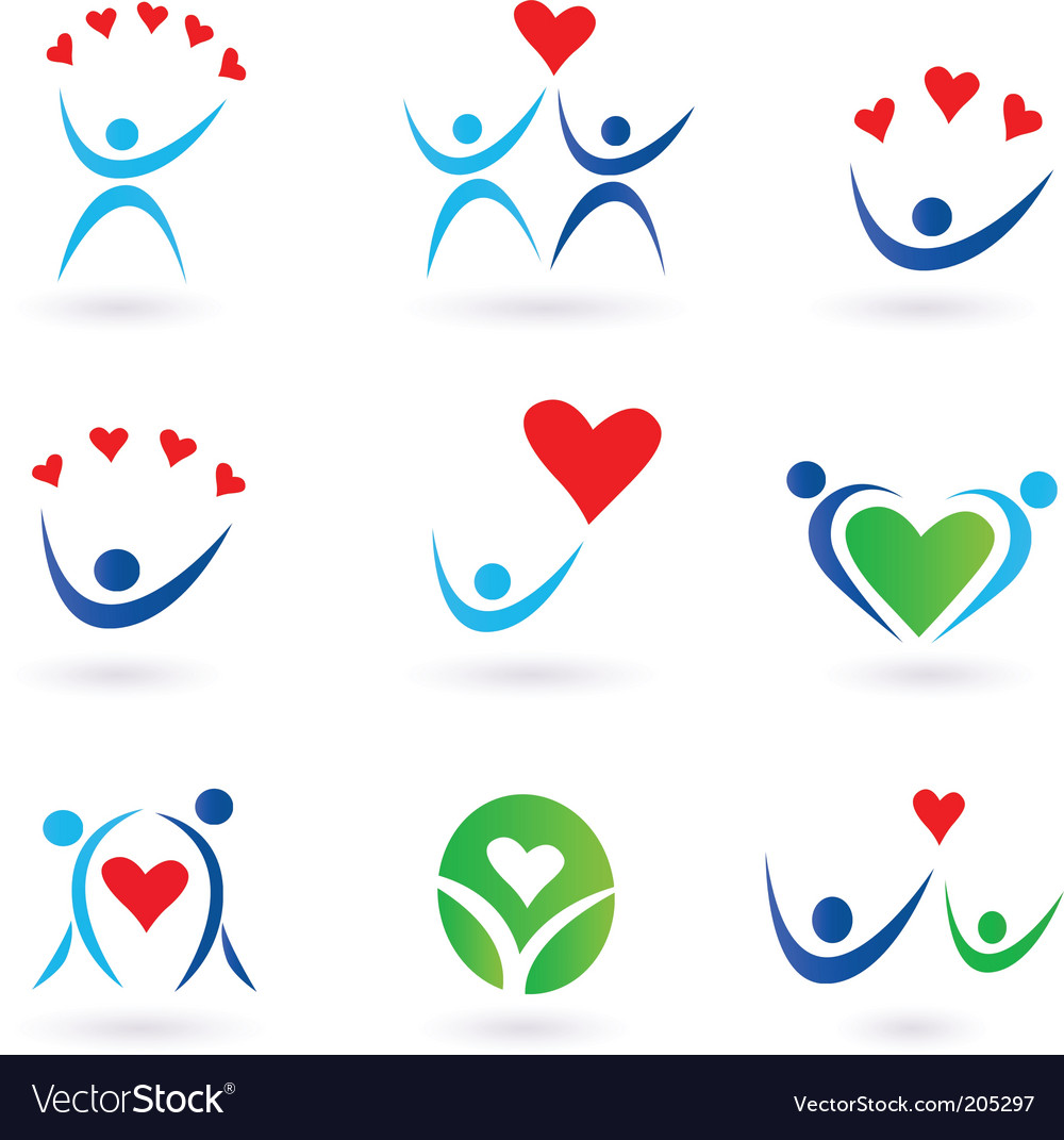 Love relationship and community icons vector | Price: 1 Credit (USD $1)