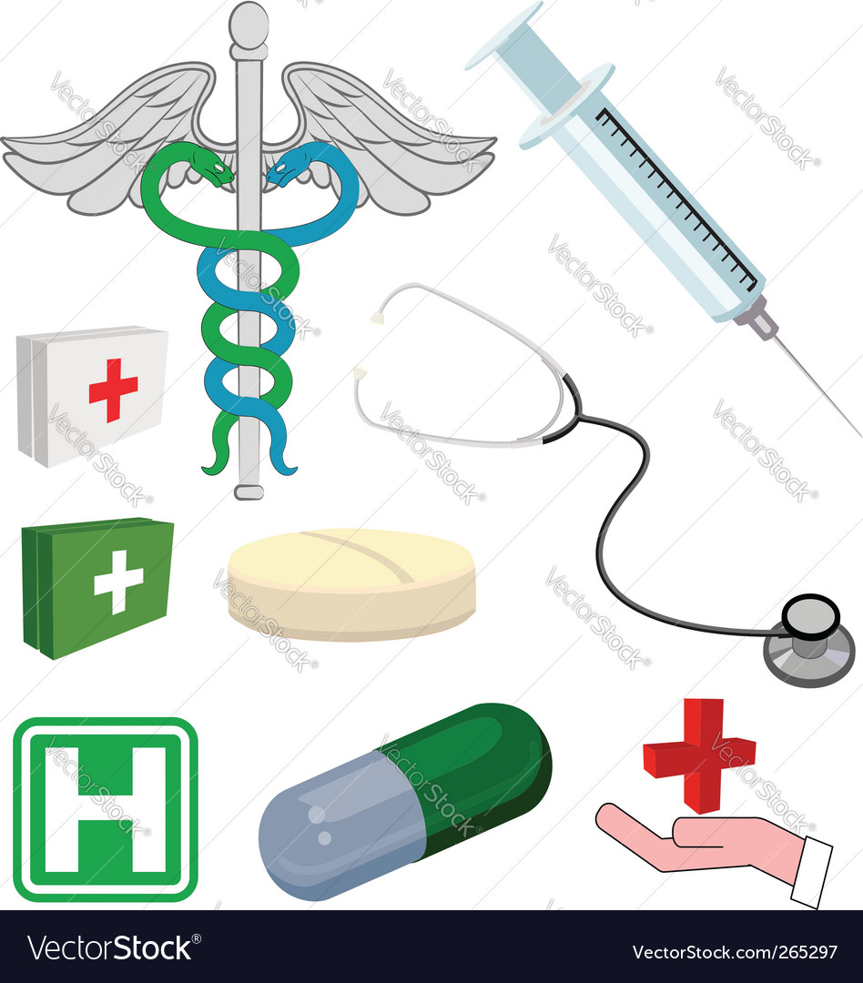 Medical objects vector | Price: 3 Credit (USD $3)