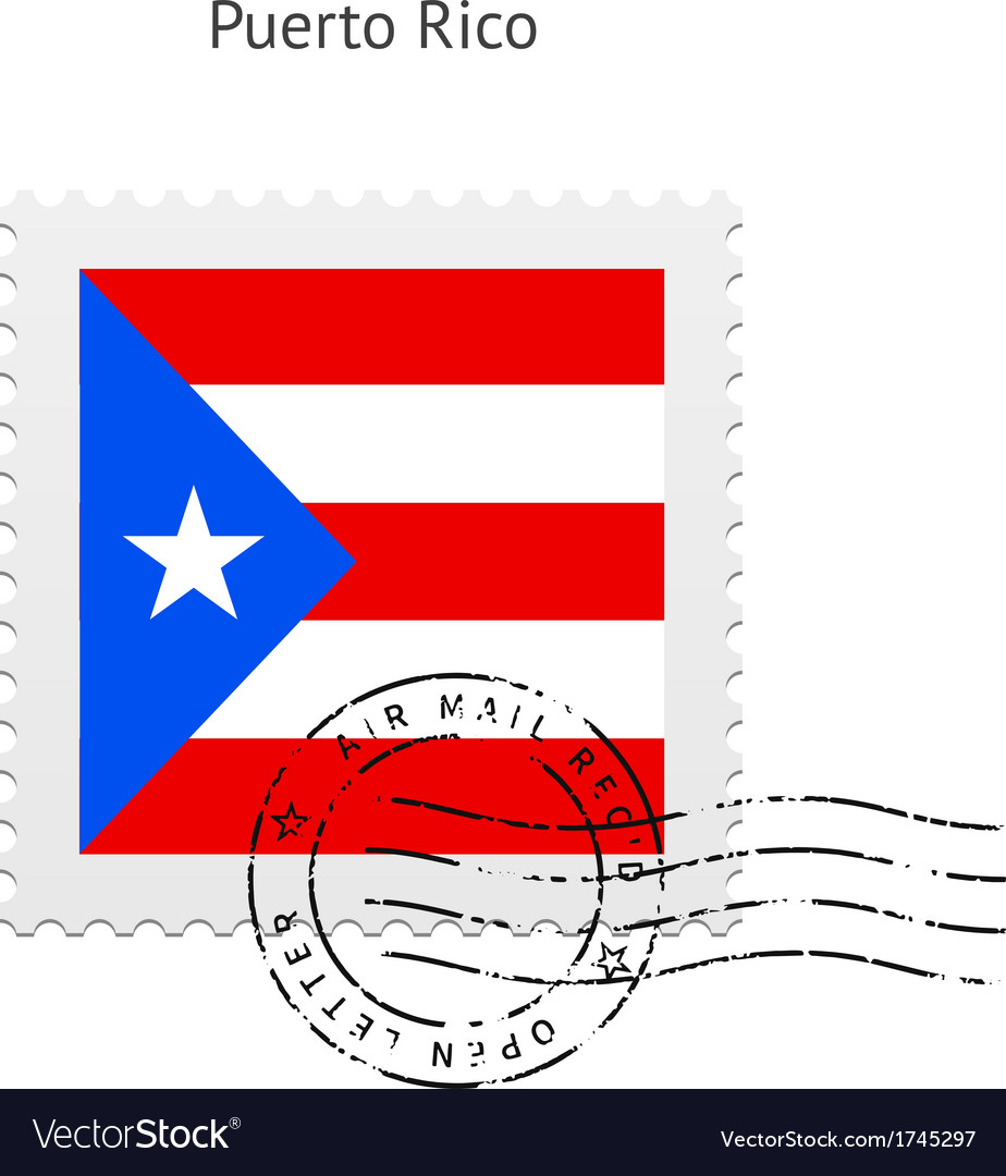 Puerto rico flag postage stamp vector   Price: 1 Credit (USD $1)