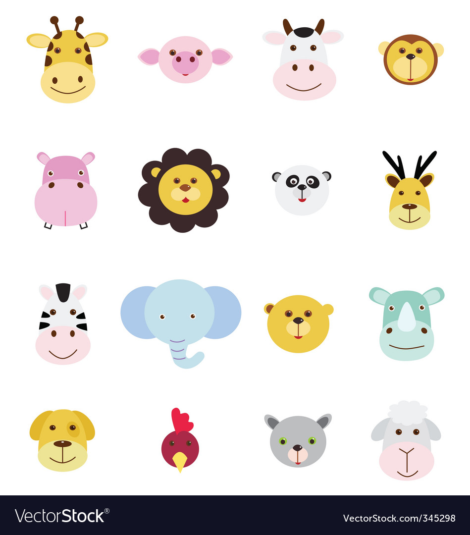 Animals icons vector | Price: 1 Credit (USD $1)