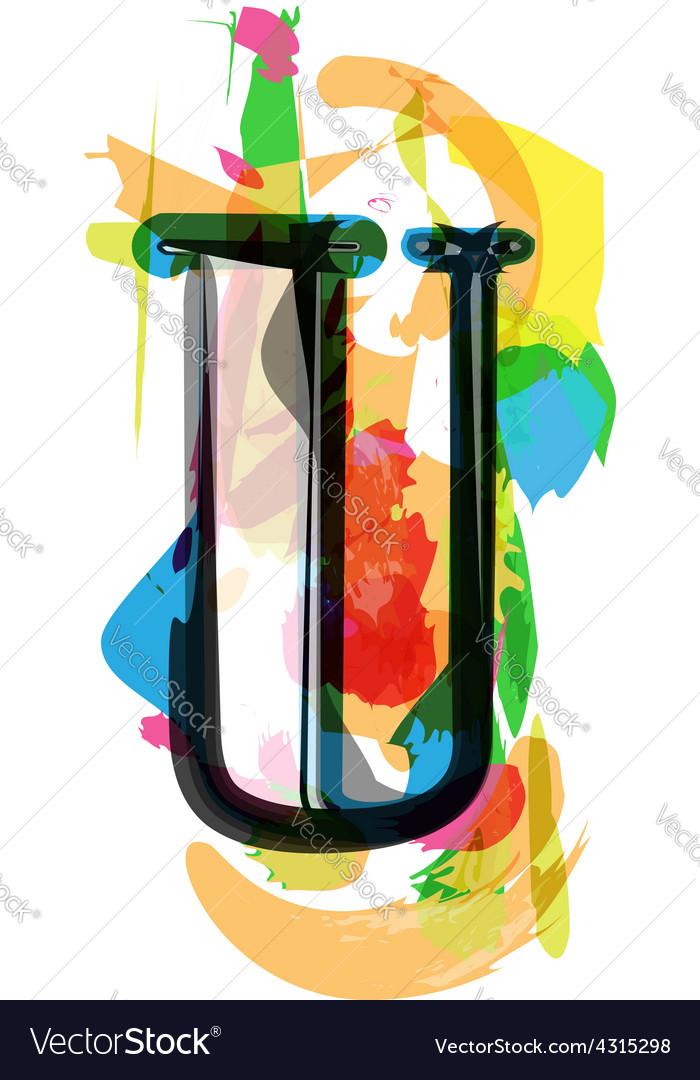Artistic font - letter u vector | Price: 1 Credit (USD $1)
