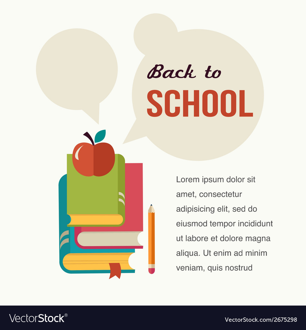 Back to school read the books concept backgound vector | Price: 1 Credit (USD $1)