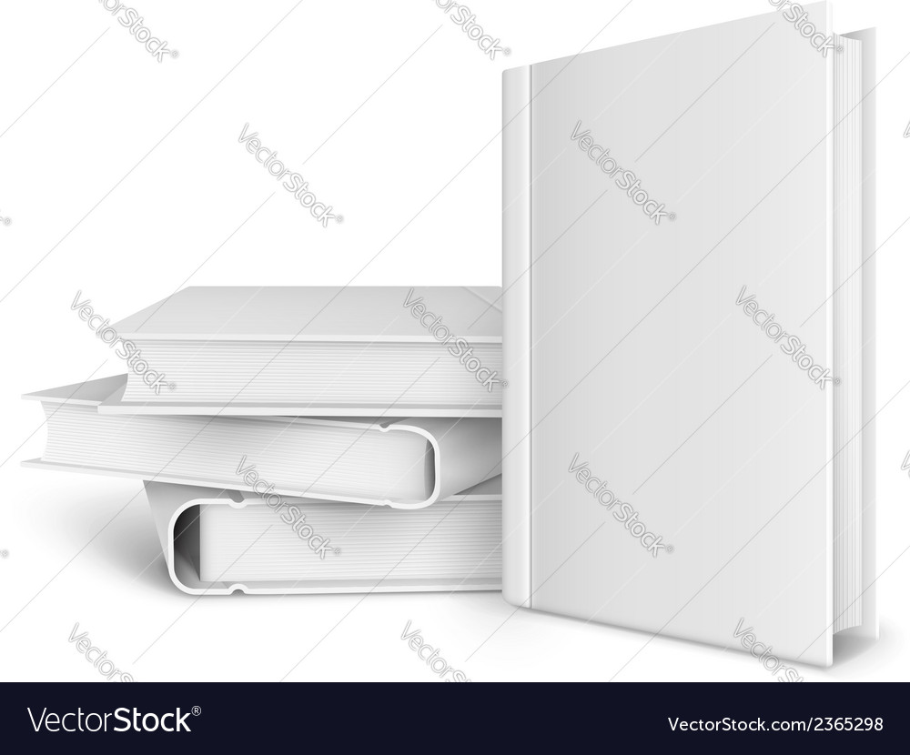 Book template with blank vector | Price: 1 Credit (USD $1)