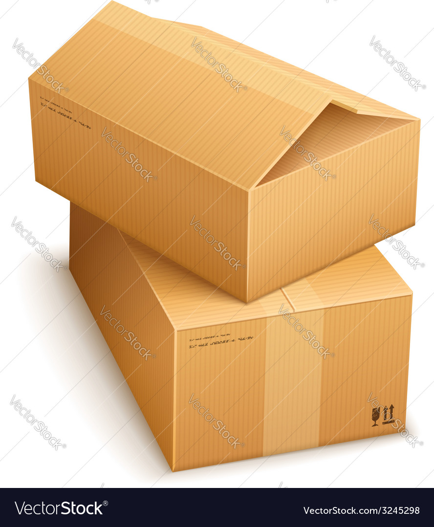Cardboard boxes for mail vector | Price: 1 Credit (USD $1)