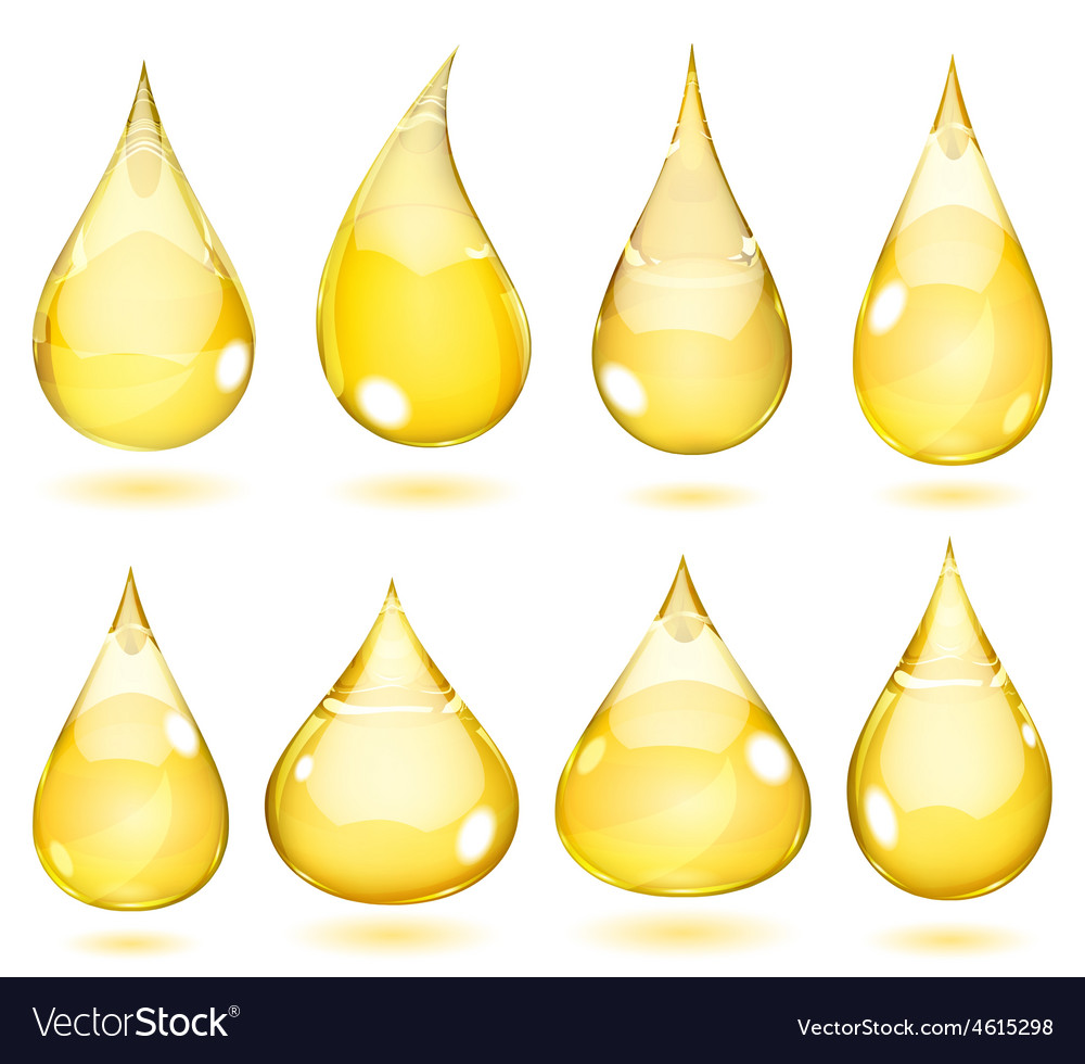 Opaque drops in saturated yellow colors vector | Price: 1 Credit (USD $1)