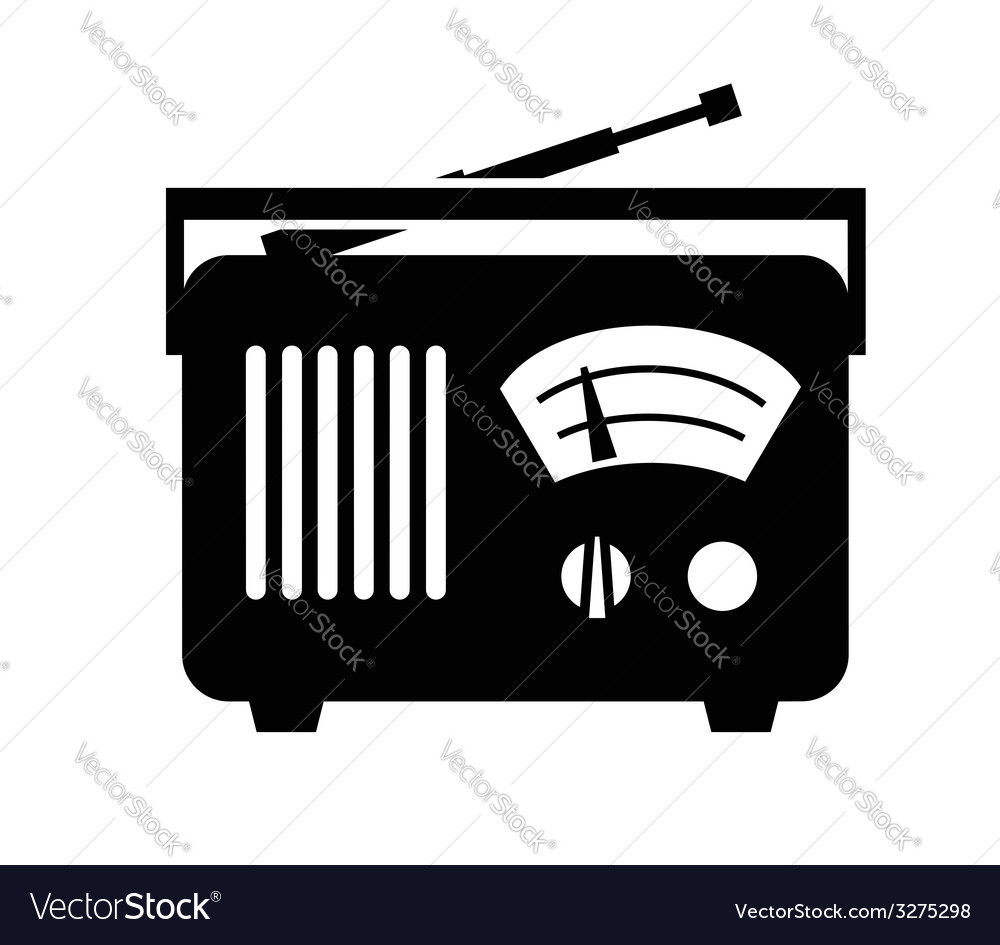 Radio icon vector | Price: 1 Credit (USD $1)