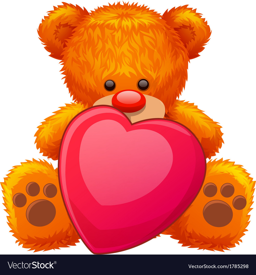 Red teddy bear vector | Price: 1 Credit (USD $1)