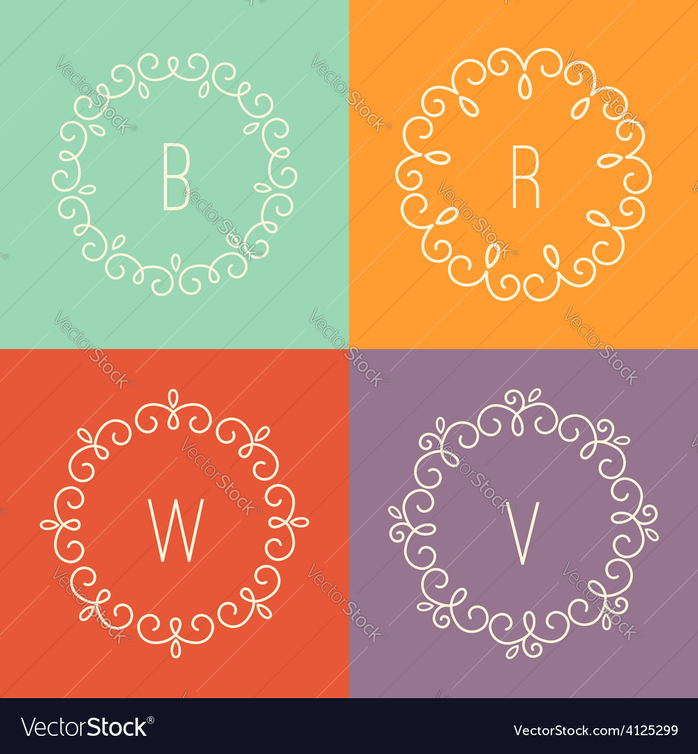 Abstract linear designs for logo templates vector | Price: 1 Credit (USD $1)