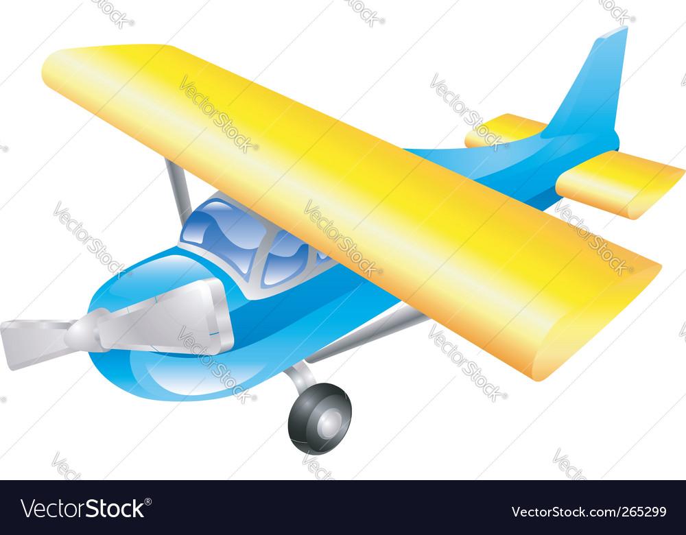Aeroplane cartoon vector | Price: 3 Credit (USD $3)