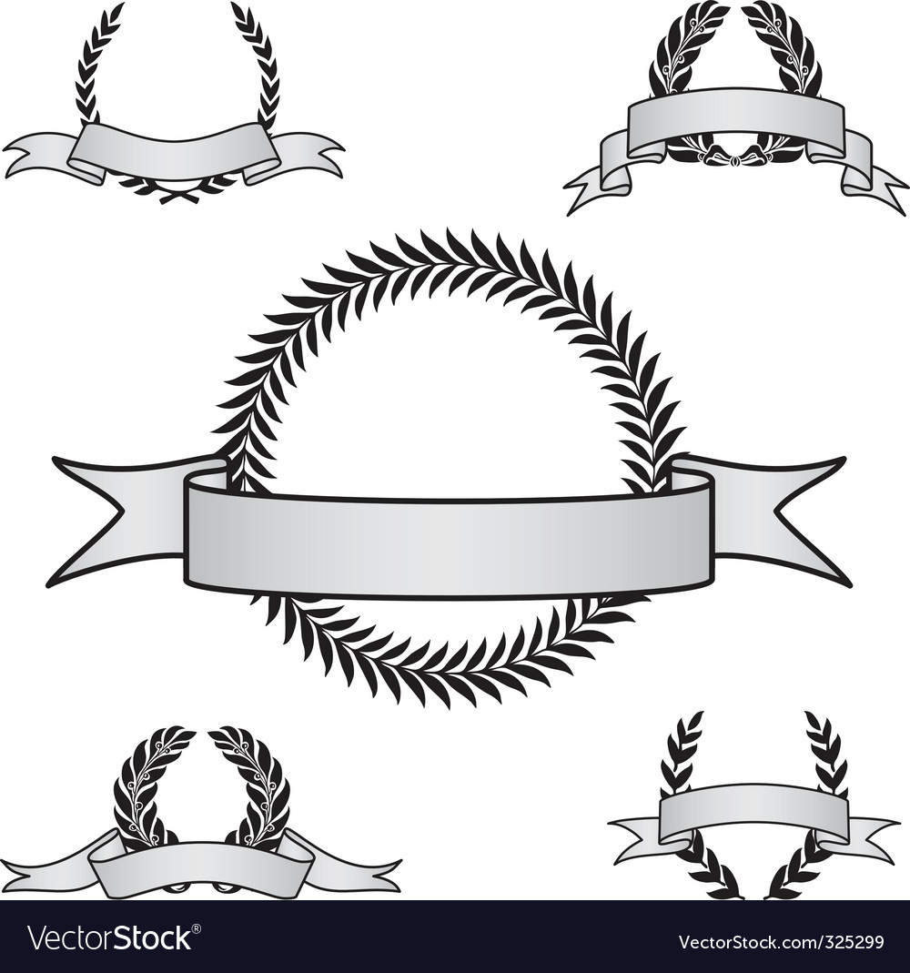 Award crest set vector | Price: 1 Credit (USD $1)