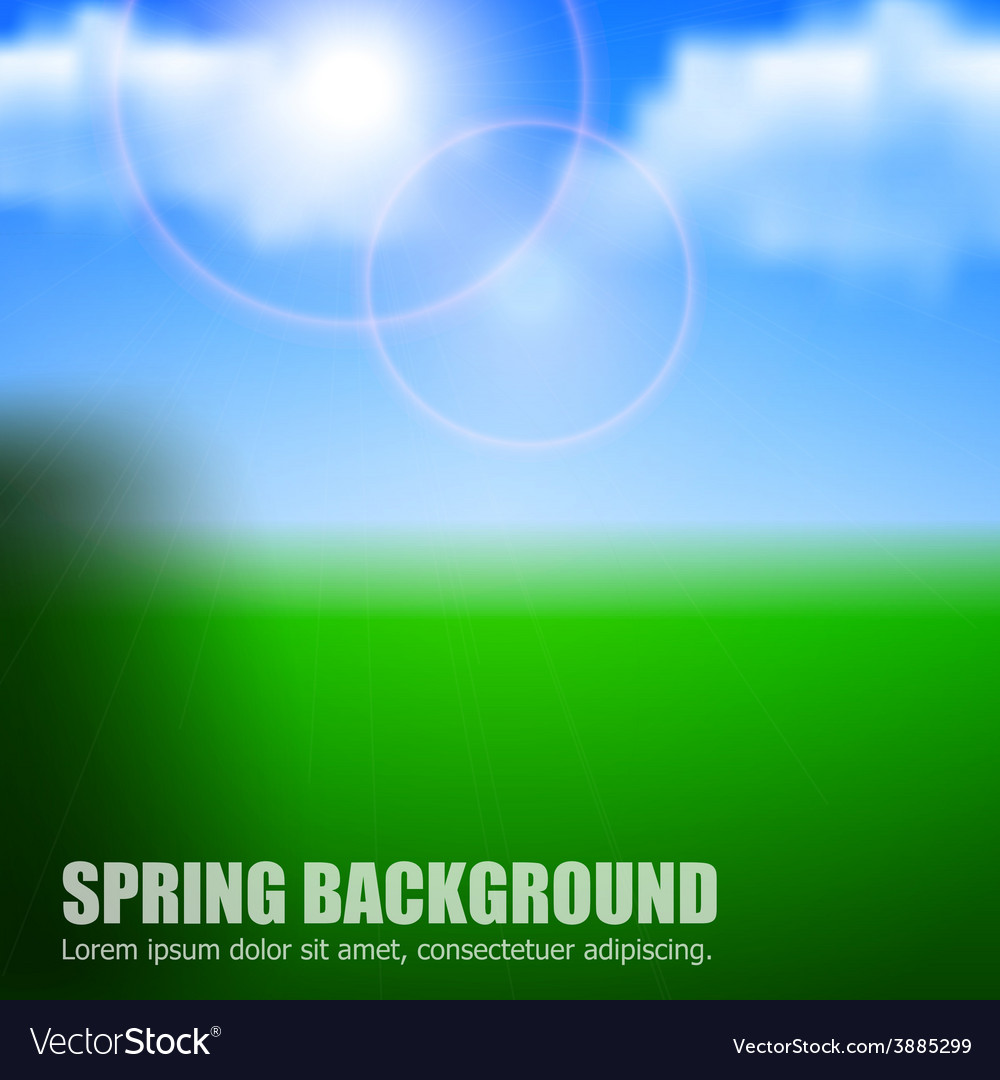 Blurry background spring or summer blue sky with vector | Price: 1 Credit (USD $1)