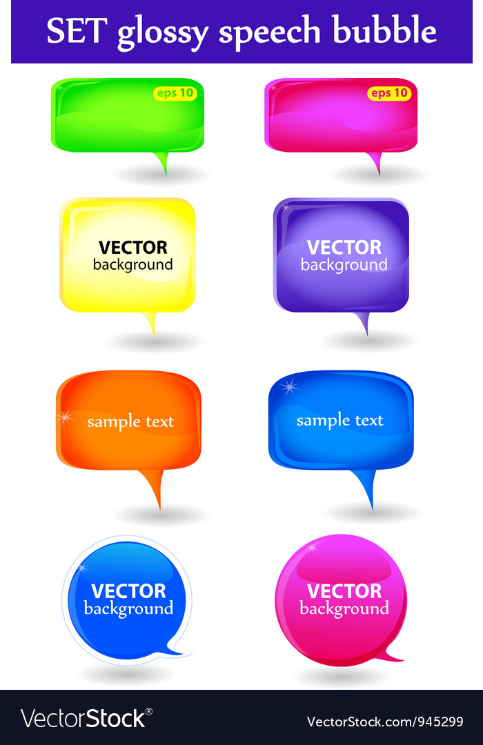 Glossy speech bubble vector | Price: 1 Credit (USD $1)
