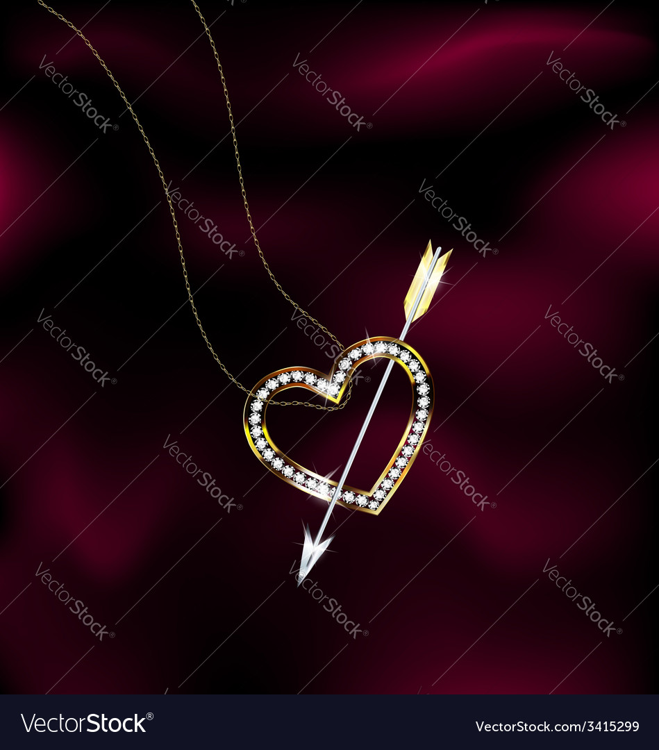 Jewelry heart and arrow vector | Price: 1 Credit (USD $1)