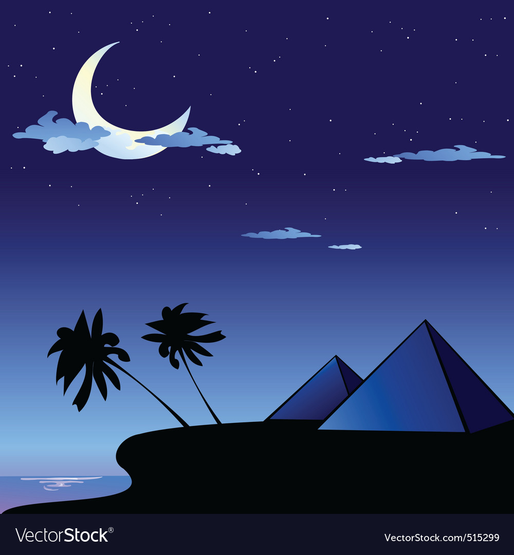 Pyramids in egypt vector | Price: 1 Credit (USD $1)