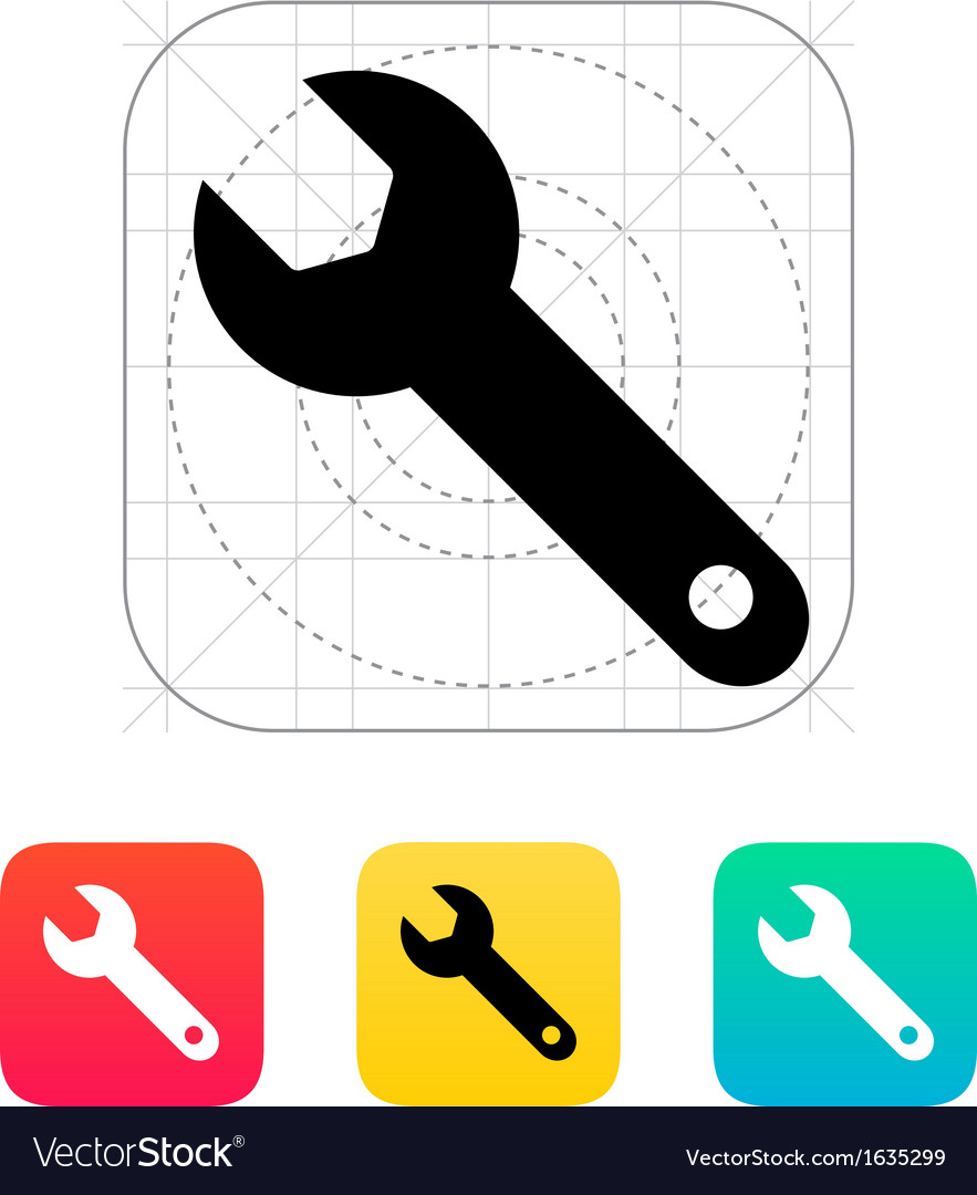 Repair wrench icon vector | Price: 1 Credit (USD $1)