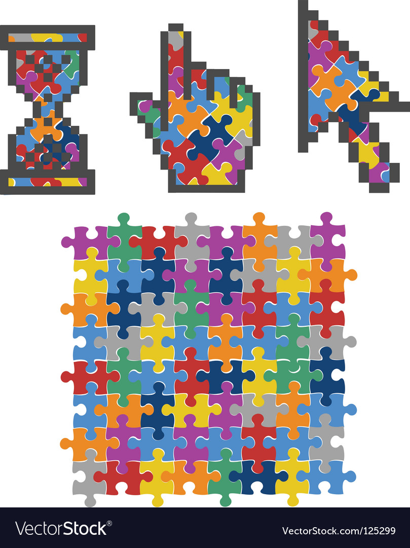 Vibrant color puzzles vector | Price: 1 Credit (USD $1)