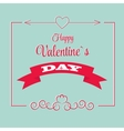 St valentine days greeting card in retro style vector