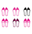 Beautiful lady shoes isolated on white - pink vector