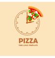 Pizza logo design template vector