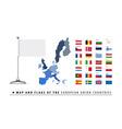 European union map and flag vector
