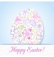 Easter flowers egg background doodles ornament for vector