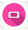 Portable game console icon vector