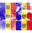 Flag of moldova with old texture vector