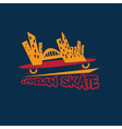 Urban skate design template vector