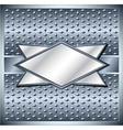 Rhombus metal frame vector