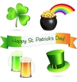 Saint patricks day design elements set vector