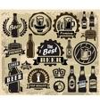 Beer pub labels vector