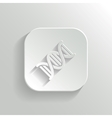 Dna icon - white app button vector