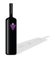 Bottle of wine color vector