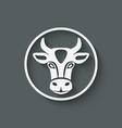 Cow head symbol vector