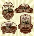 Vintage retro coffee label set vector