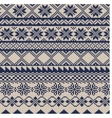 Knitted background in fair isle style vector